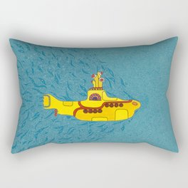 We all live in a yellow submarine Rectangular Pillow