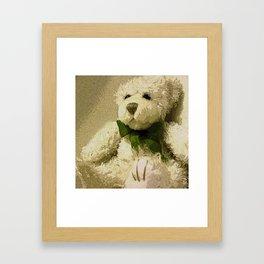 Daddy's Gift Teddy Bear Print Framed Art Print