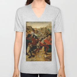 "Pieter Brueghel II (The Younger) ""A country brawl"" Unisex V-Neck"