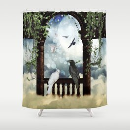 The crow and the dove Shower Curtain