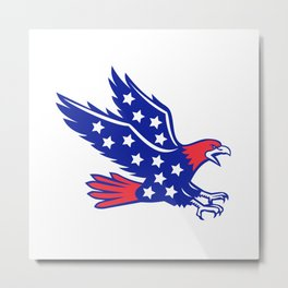 American Eagle Swooping Stars Icon Metal Print