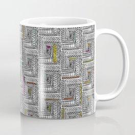 Log Cabin Pattern Coffee Mug