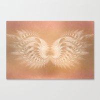 angel wings Canvas Prints featuring Angel Wings by Selina Morgan