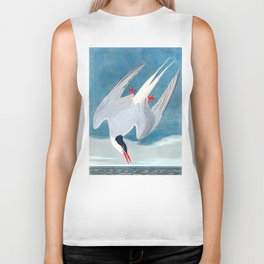 Arctic Tern Bird Biker Tank
