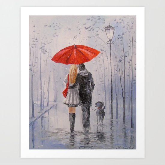 After the rain in the Park Art Print