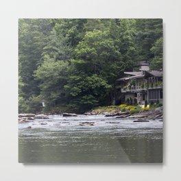 Calming the River Large Print Metal Print