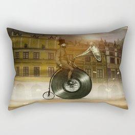 Music Man in the City, by Eric Fan and Viviana González Rectangular Pillow