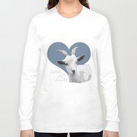 totes Long Sleeve T-shirts featuring Totes Ma Goats - Green Wallpaper by BACK to THE ROOTS