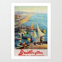 Werbeplakat Bridlington Yorkshires Gay Seaside Playground Art Print