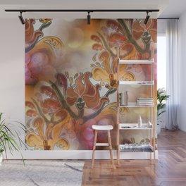 discopattern orange -1a- Wall Mural