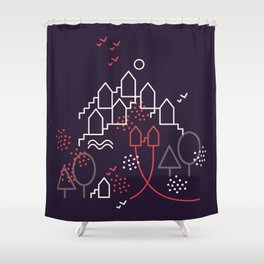 The Other Two And The Town Shower Curtain