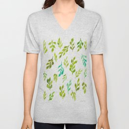 180726 Abstract Leaves Botanical 13|Botanical Illustrations Unisex V-Neck