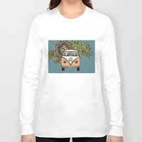 vw bus Long Sleeve T-shirts featuring VW bus by Woosah