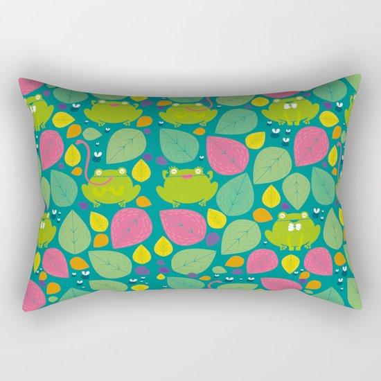 Frogs pattern Rectangular Pillow