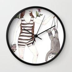 Dangle Bear Wall Clock