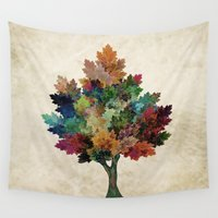 suits Wall Tapestries featuring Fall is Back! by Klara Acel