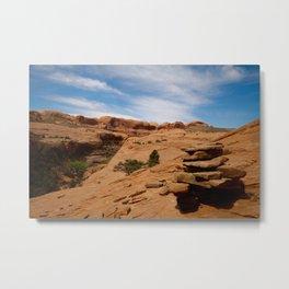 Desert Cairn Metal Print
