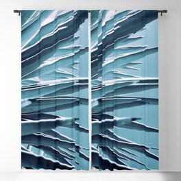 Palm Rays - Duotone Black and Teal Blackout Curtain