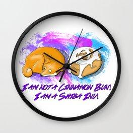 Shiba vs. Cinnamon Bun Wall Clock