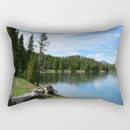 Serene Yellowstone River Rectangular Pillow