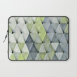 Textured Triangles Lime Gray Laptop Sleeve