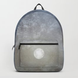 Glowing Moon in the night sky Backpack