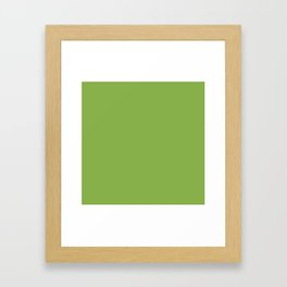 Green Apple - Solid Color Collection Framed Art Print