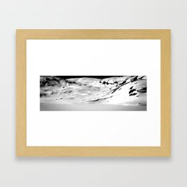 Lonely Mountains V Framed Art Print
