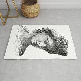 Portrait of Apollo Belvedere Rug