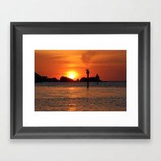 Island Hangout  Framed Art Print