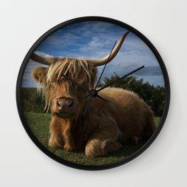 Rugged Highland Cow Wall Clock