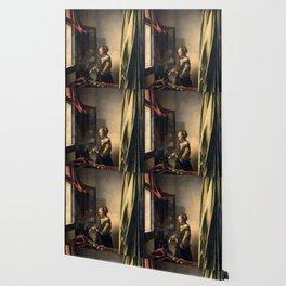 "Johannes Vermeer ""Girl Reading a Letter at an Open Window"" Wallpaper"