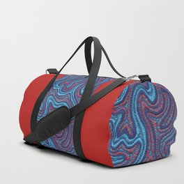 Stitches - Coral Duffle Bag