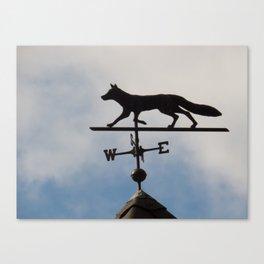 Coyote Shaped weather vane Canvas Print