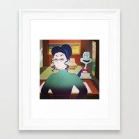 boss Framed Art Prints featuring boss by opertura