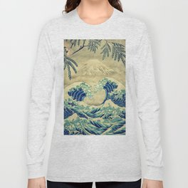 The Great Blue Embrace at Yama Long Sleeve T-shirt