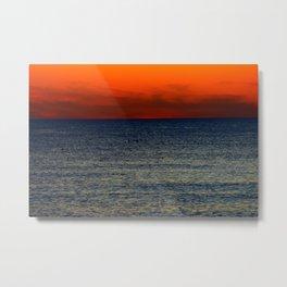 Contrast Ocean Metal Print