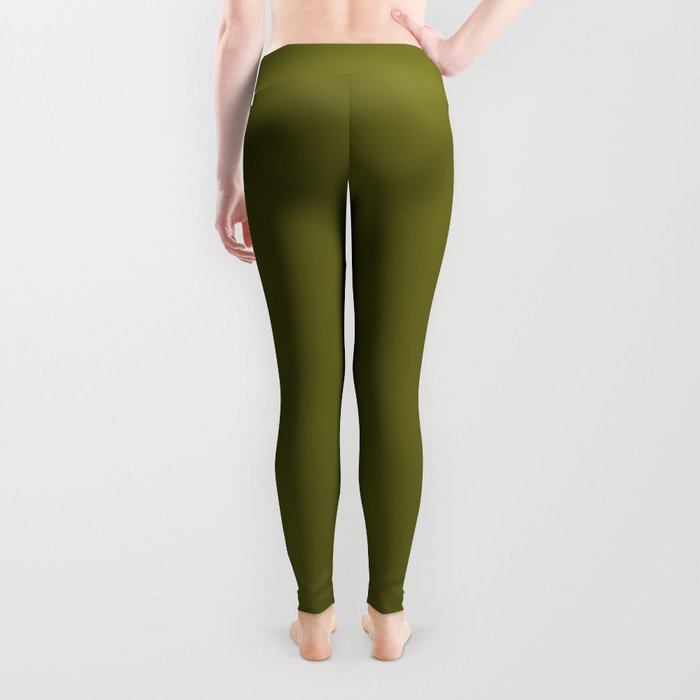 Colors of Autumn Pine Dark Green Solid Color Leggings