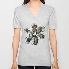 Oysters on the Half Shell Unisex V-Neck