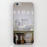 seoul iPhone & iPod Skins featuring SEOUL by Sara Ahlgren