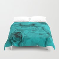 turquoise Duvet Covers featuring Turquoise by Lyle Hatch