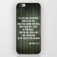 Proverbs 3:3-4 iPhone & iPod Skin