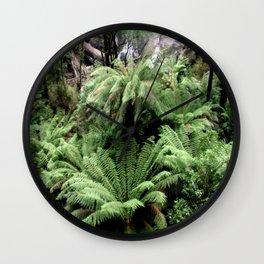 Ferns & Waterfall Wall Clock