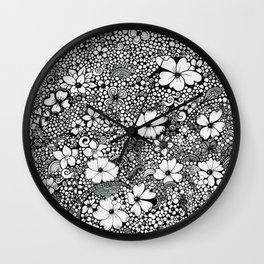 Dots In The Wind Wall Clock