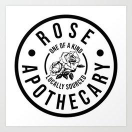 Rose Apothecary. Ew david gift. Rosebud motel Art Print