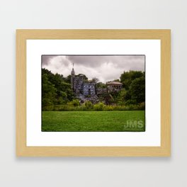 Belvedere Castle with Cloudy Conditions Framed Art Print