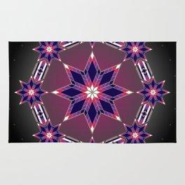 Morning Star Circle (Purple) Rug