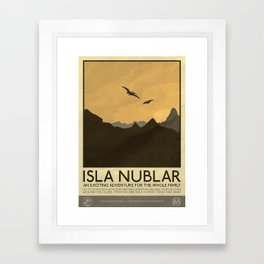 Silver Screen Tourism: Isla Nublar / Jurassic Park World Framed Art Print