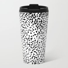 Retro Themed Dot Pattern Design Travel Mug