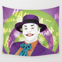 1989 Wall Tapestries featuring The Joker 1989 by Nile